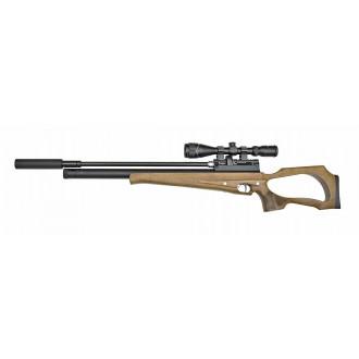 Пневматическая винтовка Jager (Егерь) Hunter SP 6.35 мм (орех) с прицелом и насосом
