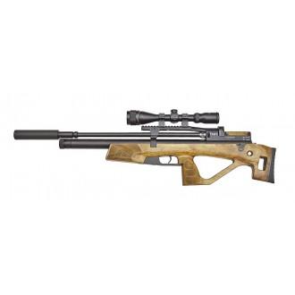 Пневматическая винтовка Jager (Егерь) Hunter SP булл-пап 6.35 мм (орех) с прицелом и насосом