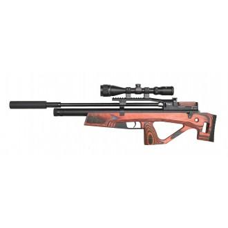 Пневматическая винтовка Jager (Егерь) SP булл-пап 6.35 мм красный