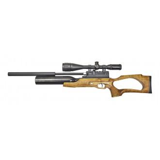 Пневматическая винтовка Jager (Егерь) SP NEW Pro 5.5 мм (орех) с интегрированным модератором