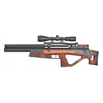 Пневматическая винтовка Jager (Егерь) SP булл-пап 6.35 мм красный с интегрированным модератором