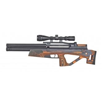 Пневматическая винтовка Jager (Егерь) SPR булл-пап 6.35 мм оранжевый с интегрированным модератором