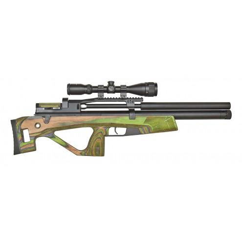 Пневматическая винтовка Jager (Егерь) SP булл-пап 6.35 мм зеленый с интегрированным модератором