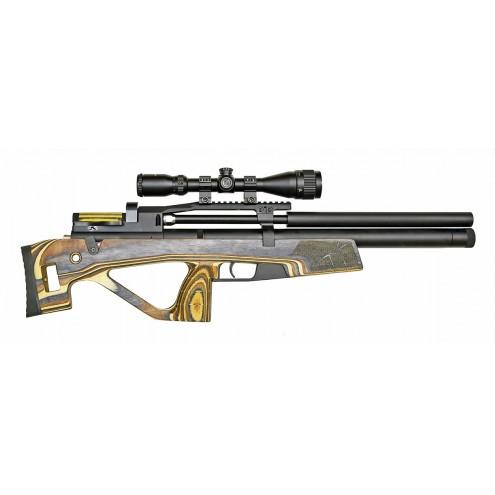 Пневматическая винтовка Jager (Егерь) SPR булл-пап 6.35 мм желтый с интегрированным модератором