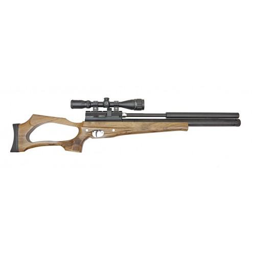 Пневматическая винтовка Jager (Егерь) SPR 6.35 мм (орех) с интегрированным модератором
