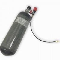Баллон металлокомпозитный 6,8 л, вентиль с манометром Alsafe